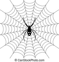 araña, spiderweb