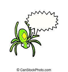 Araña, Veneno, caricatura