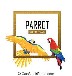 Ara Parrot Flat Design Vector Illustration