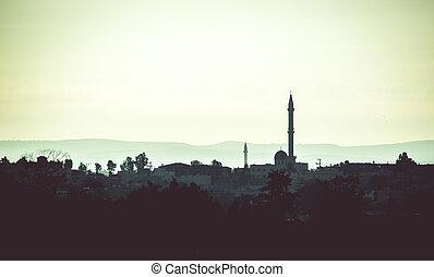 arab, 解決, 由于, 清真寺