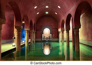Arab Baths in Granada, Andalusia, Spain