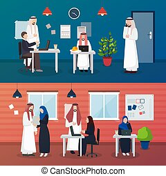 Arab Business People Compositions