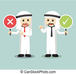 arab businessman arguing with