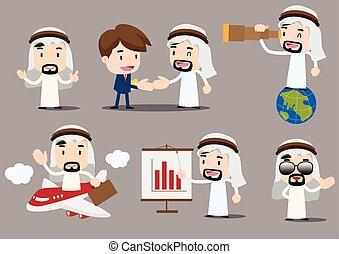 Arab Businessman cartoon vector illustration