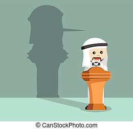 arab businessman lied in his speech