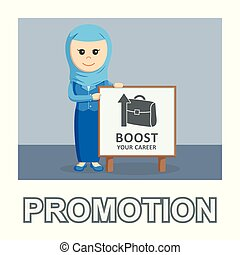 Arab businessman promotion photo text style