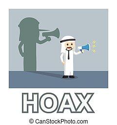 Arab businessman spreading hoax
