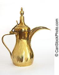Arab coffee pot - Traditional Arab brass coffee pot or...