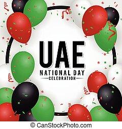 arab, emirátusok, nemzeti, háttér, egyesült, nap