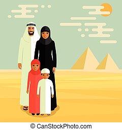 arab family, muslim people,