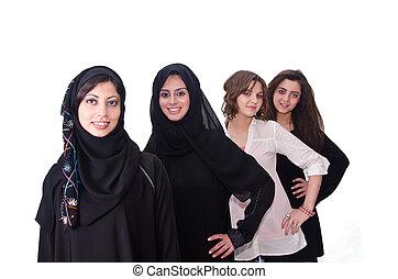 Arab Females standing in Raw