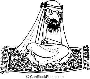 Arab flying - Arab thinking on the flying carpet