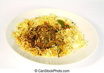 Arab lamb majboos 1 - Majboos - meat baked with rice - is ...