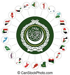 Arab League member states - Flags of the Arab League member...