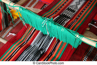 Arab loom 1 - A loom producing the traditional Arab cloth ...