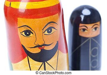 Arab Man and Woman Nesting Dolls