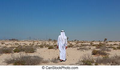 Arab man in desert