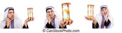 Arab man thinking about passage of time - The arab man ...