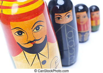 Arab Man Woman Children Family Nesting Dolls