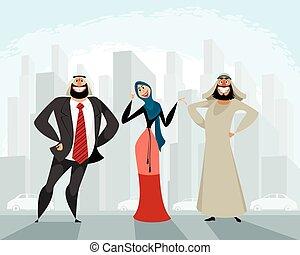 Arab men and woman