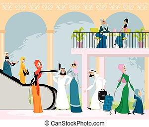 Arab men and women