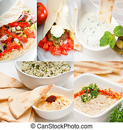 Arab middle east food collection