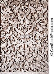 arab mosaic in the Alhambra in Granada, Spain