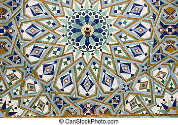 Arab mosaic - Moroccan style ceramic mosaic - Best of ...