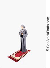 Arab muslim woman praying