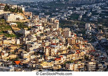 Arab neighborhood on the hillside of Mount of Olives in Jerusalem