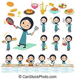 Arab old women_cooking