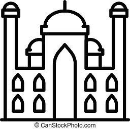 Arab palace icon, outline style