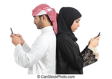 arab, par, hemfallet, till, smart, ringa