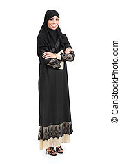 Arab saudi woman full body posing confident