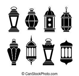 arab, világító, ramadan