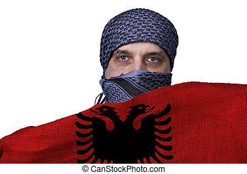 Arab with Albania flag