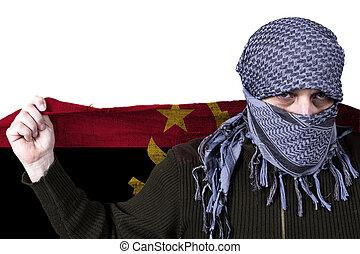 Arab with Angola flag