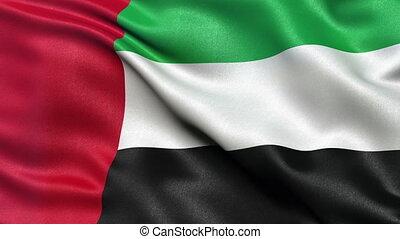 arabe, drapeau, uni, emirats, boucle