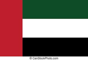 arabe, drapeau, uni, emirats