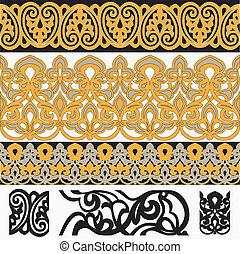 arabe, frontières, ensemble, seamless, 4
