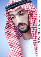 arabe, habillement, homme