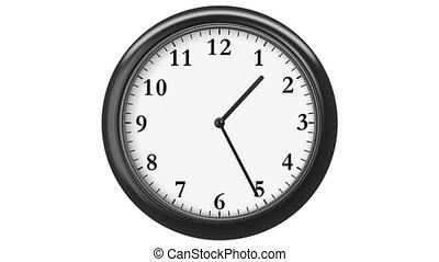 arabe, horloge, numerals.