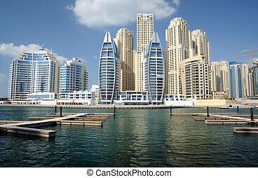 arabe, marina, dubai, uni, emirats