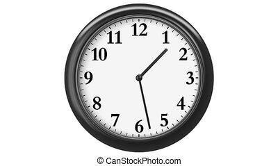 arabe, numerals., horloge