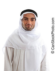 arabe, oriental, milieu, homme