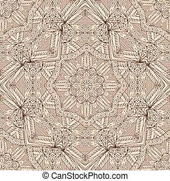 arabe, pattern., seamless, beige
