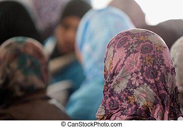 araber, beduine, maenner, -, kufeyas, traditionelle