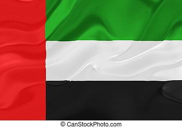 araber, fahne, wellig, emirate, vereint