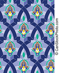 araber, seamless, mosaik