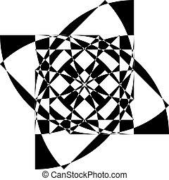 arabesco, astratto, sfondo nero, intersezioni, trasparente